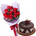 father's-day-flower-with-cake