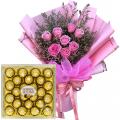 anniversary-flower-with-chocolate