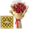 valentine's-flower-with-chocolate