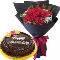anniversary-flower-with-cake