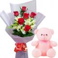valentine's-flower-with-bear
