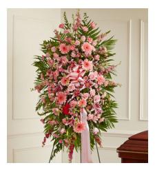 Pink Explosion Funeral Standing Spray Online Order to Cebu Philippines