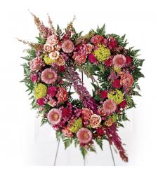 Send Eternal Rest Heart Wreath To Cebu