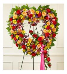 Send Ravishing Heart Wreath To Cebu