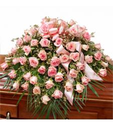Send Roses in Pink Casket Spray To Cebu
