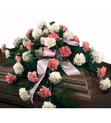 Send Cascading Pinks and Whites Casket Spray to Cebu
