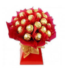 16pcs Ferrero Rocher in a Red Bouquet to Cebu in Philippines