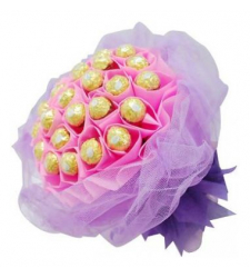 24pcs Ferrero Rocher in a Pink Bouquet to Cebu City