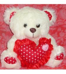 Cream Bear with Red Heart to Cebu City