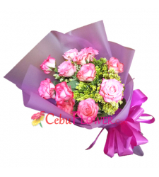 send 12 pink roses hand bouquet to cebu