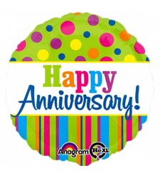 1pc beautiful anniversary mylar balloon to cebu