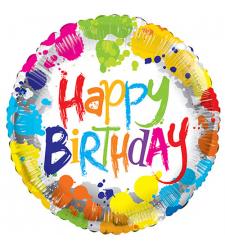 send 1pc. round shaped birthday mylar balloon to cebu