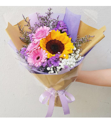send 3 gerberas and single sunflower bouquet to cebu