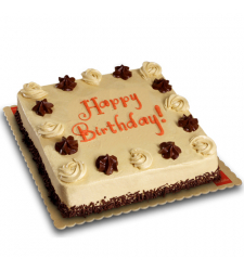 Mocha Dedication Cake 8x8 (Junior) Delivery in Cebu