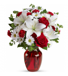 be my love vase with red roses