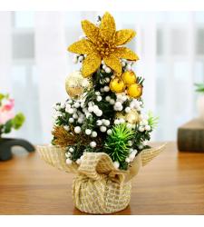 send 20cm gold mini christmas tree to cebu