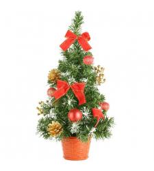 send 45cm red green christmas mini-tree to cebu