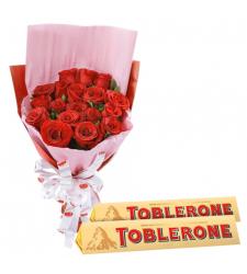 send 12 red roses with toblerone chocolate to cebu
