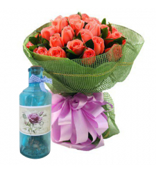 send 12 roses get bottle message free to cebu