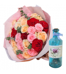 send 24 mixed roses with bottle message to philippines