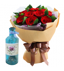 send 12 red roses with Message in Bottle to cebu
