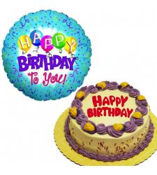 Creamy Quezo Ube Cake with Birthday Balloon