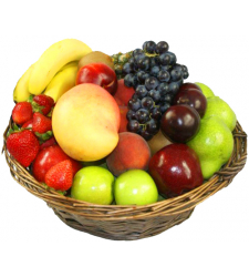 Fresh Fruits in Decorated Basket