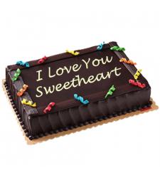Anniversary Chocolate Dedication Cake by Red Ribbon