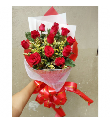 send 12 red roses in gorgeous arrangement to cebu