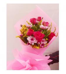 send half dozen red roses arrangement to cebu