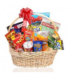 Sports Snacks Gift Basket