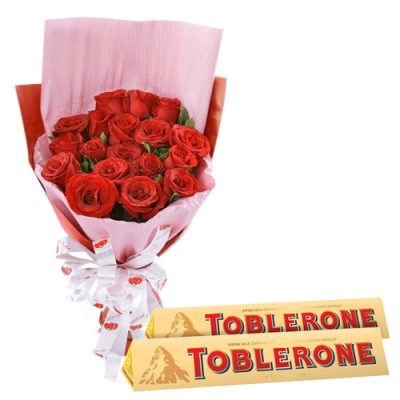send 12 red roses with toblerone chocolate to cebu